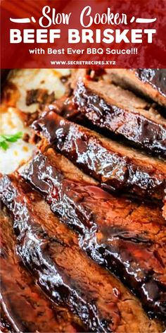 Discover recipes, home ideas, style inspiration and other ideas to try. Beef Brisket Slow Cooker, Bbq Brisket, Smoked Beef Brisket, Crock Pot Brisket, Beef Steak, Meat Recipes, Slow Cooker Recipes, Crockpot Recipes, Cooking Recipes