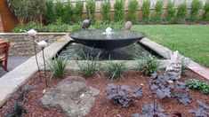 Water bubbler + outdoor landscaping package Outdoor Landscaping, Outdoor Decor, Water Features, Natural Stones, Fountain, Outdoors, Landscape, Nature, Design