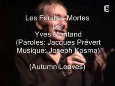▶ Les feuilles mortes - Yves Montand - Subtítulos en español - YouTube