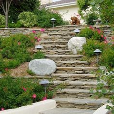 landscaping steep steps   Hill Landscaping