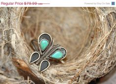37% Off Sale Boho Turquoise Ring Sterling Silver by Yourgreatfinds