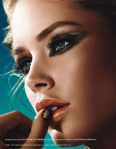 Pictures : LOréal LOr Sunset Makeup Collection 2013 Doutzen Kroes L Oreal Beauty Makeup, Eye Makeup, Hair Beauty, Girl Face, Woman Face, Sunset Makeup, Doutzen Kroes, Interesting Faces, Loreal Paris