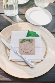 Simple wedding favor idea. Give guests seeds to plant!