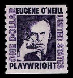Eugene O'Neill auf amerikanischer Briefmarke von 1967