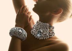 bejeweled choker and matching bangle