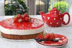 Es wird wieder erdbeerig: Quarktorte mit Erdbeeren