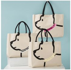 Sequin Collar Dog Tote The perfect tote for all our fur mamas! Dog Tote bag with sequin collar and handles that make adorable ears! Monogram Tote Bags, Canvas Tote Bags, Sac Lunch, Dog Tote Bag, Messenger Bags, Patchwork Bags, Fabric Bags, Cloth Bags, Handmade Bags
