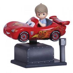 Precious Moments Disney Cars Lightning McQueen Kiddie Ride Musical #134101