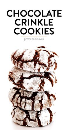 LOVE this chocolate crinkle cookies recipe! It's easy to make, super chocolatey … LOVE this chocolate crinkle cookies recipe! It's easy to make, super chocolatey and delicious, and always perfect for the holidays. Cake Mix Cookie Recipes, Chocolate Cookie Recipes, Best Cookie Recipes, Dessert Recipes, Baking Chocolate, Easy Recipes, Chocolate Chocolate, Dessert Healthy, Cokies Recipes