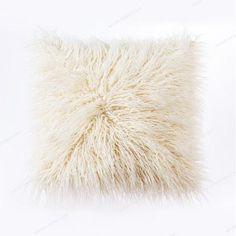OJIA Deluxe Home Decorative Super Soft Plush Mongolian Faux Fur Throw Pillow Cover Cushion Case 18 x 18 Inch, Pink Fur Pillow, Sofa Throw Pillows, Linen Pillows, Throw Pillow Covers, Decorative Pillows, Cushion Pillow, Accent Pillows, Chair Pillow, Accent Chairs