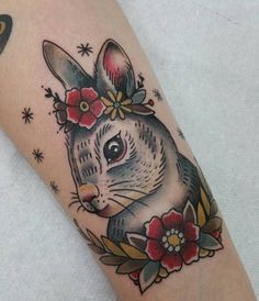 Rabbit Tattoo by Adriana Maluquer