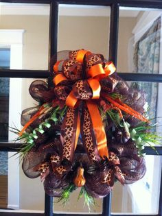 Fall mesh wreath
