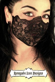 black lace, mask, fetish, lingerie, fantasy, cos play, club wear, medical fetish, play wear: Renegade Icon Designs by Renegadeicon on Etsy https://www.etsy.com/listing/174721662/black-lace-mask-fetish-lingerie-fantasy
