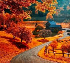 The world famous Sleepy Hollow farm near Woodstock, Vermont. Photo by Allard Schager Beautiful World, Beautiful Places, Simply Beautiful, Beautiful Pictures, Fotografia Macro, Autumn Scenes, All Nature, Amazing Nature, Fall Pictures