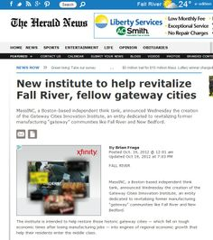 Fall River Herald News - New institute to help revitalize Fall River, fellow gateway cities