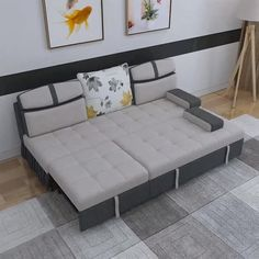 Grey Bid Sleeping Sofa Bed - Famous Last Words Sofa Design, Sofa Bed, Beds For Small Spaces, Living Room Sofa Design, Modern Furniture Living Room, Sofa Bed Design, Sofa Bed For Small Spaces, Sleep Sofa, Sofa Cumbed Design