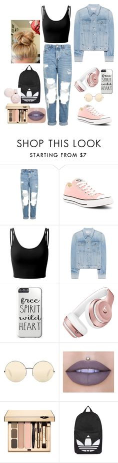 """""""Untitled #27"""" by ioana-lorena on Polyvore featuring Topshop, Converse, Doublju, rag & bone, Beats by Dr. Dre, Victoria Beckham and Jeffree Star"""