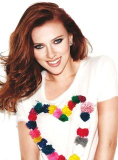 I love her red hair and make up in this photo shoot - Auburn Hair