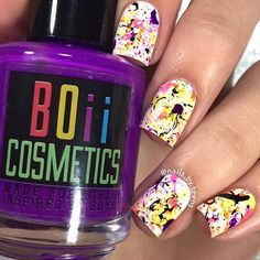 Instagram media by nails.by.teens - Splatter nails  Tutorial later  Products used: CG 'white on white'  @boiicosmetics 'tomgirl' 'cocktails, music and neons makes me happy' 'bizarre swirls' 'the crazy rainbow' 'don't keep calm this polish is perfect for stamping' and liquid latex @ellamilapolish what the gel topcoat  Straw