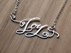 crystal kluge calligraphy custom necklaces by brevity