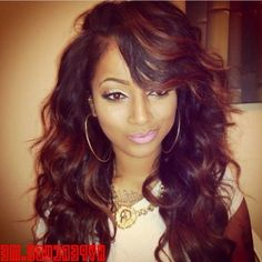 Love this hairstyle Long Wavy Weave Hairstyles For Black Women http://www.shorthaircutsforblackwomen.com/best-weave-for-natural-hair/