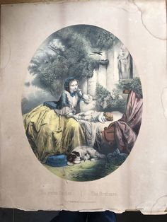 Die Ersten Sorgen- The First Care 19th Century Coloured Chromolithograph by OnlineAntiques on Etsy