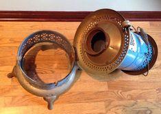 Vintage Perfection 1630 Smokeless Oil Kerosene Heater Blue Porcelain Stove USA | eBay Stove Installation, Oil Heater, Kerosene Heater, Aladdin Lamp, Blue Flames, Appliance Parts, Door Stop, Colorful Pictures, Porcelain