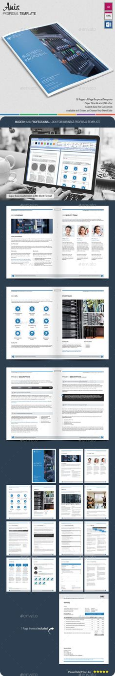 Company Proposal Template Proposal templates, Branding design - it services proposal template