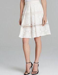 REBECCA TAYLOR Runway Lace Skirt