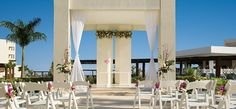 """The wedding gazebo is the perfect place to say """"I do."""" The White Gazebo can accommodate up to 45 people. #SecretsSilversands"""