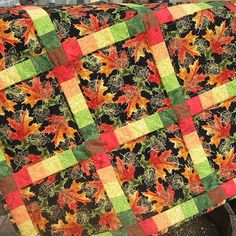 Image result for fall leaves quilt pattern
