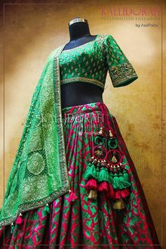31 Unique Latkan designs for every type of Lehenga! Saree Tassels Designs, Lehenga Designs, Indian Gowns Dresses, Indian Outfits, Indian Clothes, Kurti Neck Designs, Blouse Designs, Choli Blouse Design, Lehnga Dress