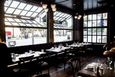 Water Grill Restaurant – Santa Monica, CA - Crown Incorporated Door Grill, Window Grill, Vertical Doors, Carriage Garage Doors, Nomad Hotel, Grill Restaurant, Rooftop Bar, Santa Monica, Curb Appeal