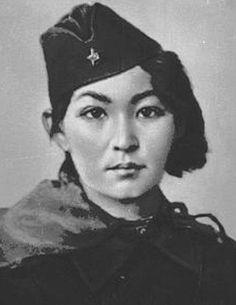 Kazakh Sniper Moldagulova Alia. Hero of the Soviet Union - 1944, posthumously.
