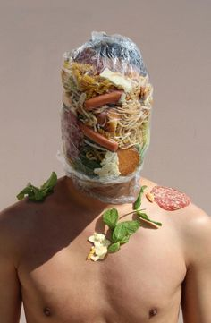 Design Correction: Unusual Self Portraits Inspired by Food by Sébastien Michel.