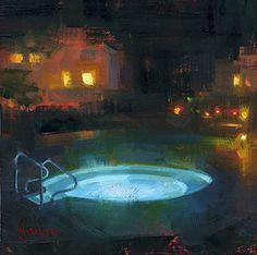 Hot Haven by Jennifer McChristian Oil ~ 8 x 8