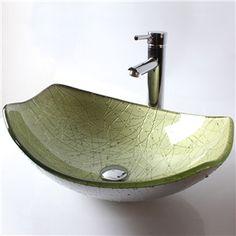 (EU Lager)Design Waschbecken Glas