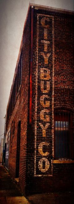 City Buggy Co. #signage #brick #buggy #southernisms #bessemer