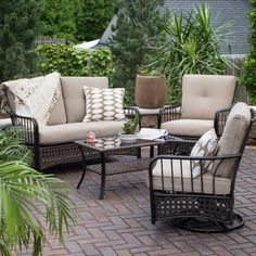 Host the best backyard get-togethers with the Belham Living Bora Bora Fire Pit Patio Set . This set includes plenty of seating and accommodations for. Outdoor Rooms, Outdoor Living, Outdoor Decor, Outdoor Fun, Outdoor Chairs, Fire Pit Patio Set, Outdoor Patio Designs, Modern Patio, Paving Design