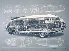 Buckminster Fuller Dymaxion Car, 1933