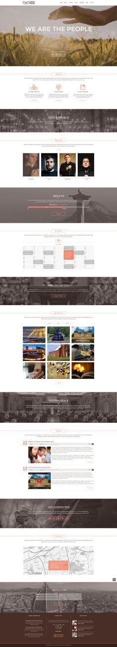 Church Redesign - Landing Page for Churches Beautiful Web Design, Ui Ux Design, Web Design Inspiration, Creative Design, Photoshop, Website Designs, Events, Design Templates, Landing