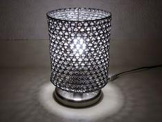 luminária de anel de lata