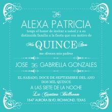 Invitation Samples For Quinceanera. Easily customize this Turquoise Flourish Border Quinceanera Invitation  design using the online editor All of our Invitations templates Wording Template Best Collection