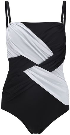 cool monochrome swimsuit to make you look awesome - it's like an optical illusion