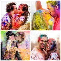 sessão fotos pó colorido