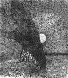 Odilon Redon, illustration pour Les Fleurs du mal de Baudelaire