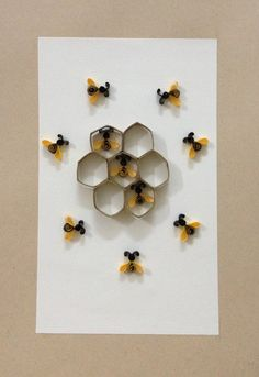 """Paper quilling """"Bees"""""""