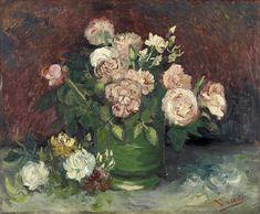 Vincent van Gogh (1853 - 1890) Rozen en pioenen, juni 1886  Olieverf op doek – Kröller-Müller Museum