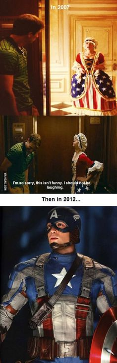 nanny diaries -> captain america