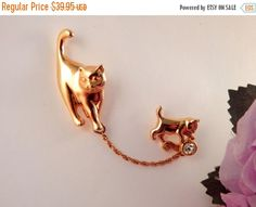 """And here's another of the cat brooch that Cassandra wears in """"The Librarians and the Broken Staff."""""""